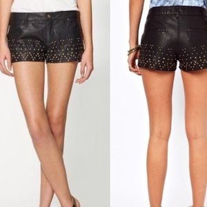 Free People • Faux Studded Leather Shorts